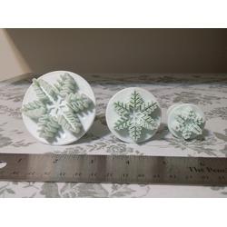 OFKP® 3 Pcs Fondant Cake Decorating Plunger Sugarcraft Cutter Mold Tools