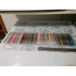 48 Color Premium Gel Colored Drawing Pens in Plastic Case