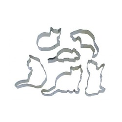 R&M International - When the Cat's Away 6 Piece Cookie Cutter Set