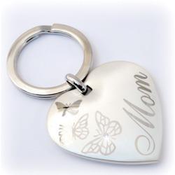 Mom heart butterfly keychain