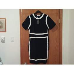 ANGVNS Women's Short Sleeve Colorblock Bodycon Vintage Wear to Work dress