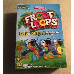 Kellogg's froot loops fruit snacks