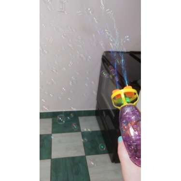 SGS Electric Led Transparent Bubble Gun and Extra Bubble Refill