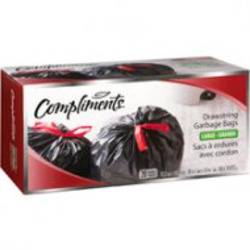 Compliments Drawstring Garbage Bags Large
