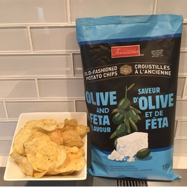 Irresistibles Old-fashioned potato chips - Olive and feta flavour