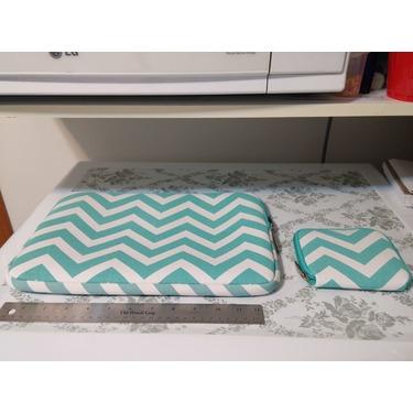 Mosiso Chevron Hot Blue Canvas Fabric Laptop Sleeve