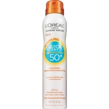 L'Oreal Paris Advanced Suncare Quick Dry Sheer Finish Spray SPF50