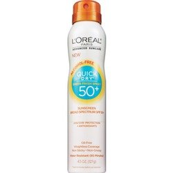 L'Oreal Paris Advanced Suncare Quick Dry Sheer Finish Spray SPF50