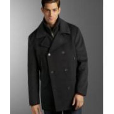 Calvin Klein Pea Coat Overcoat
