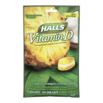 Halls Sugar Free Vitamin D Drops in Tropical Pineapple