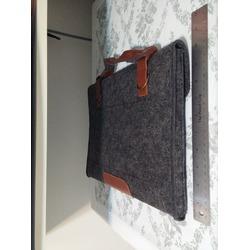 Mosiso Felt Laptop Briefcase in grey
