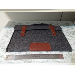 Mosiso Felt Laptop Briefcase in grey