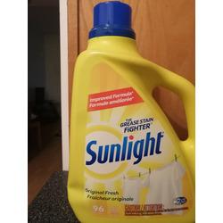 SUNLIGHT Fresh and Sensitive Liquid Laundry Detergent, 96 Wash Loads