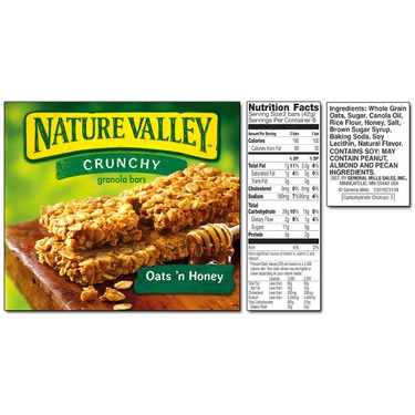 Nature valley crunchy oats and honey