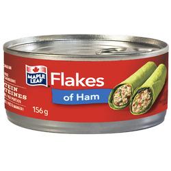 maple leaf flakes of ham