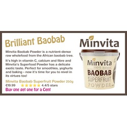 Minvita Baobab Superfruit Powder