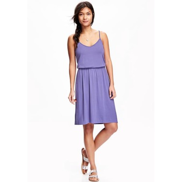 Cami waisted dress in violet eyes from old navy