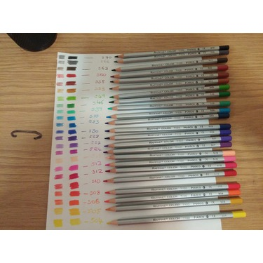 Siensync 24 Color Art Colored Drawing Pencils