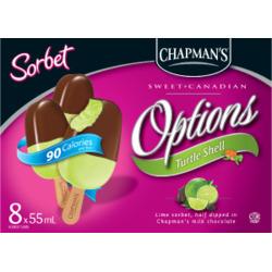 Chapman's Option Turtle Shell Lime Sorbet Bars