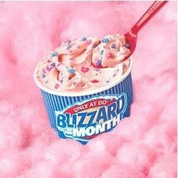 DQ cotton candy blizzard
