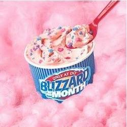 DQ cotton candy blizzard