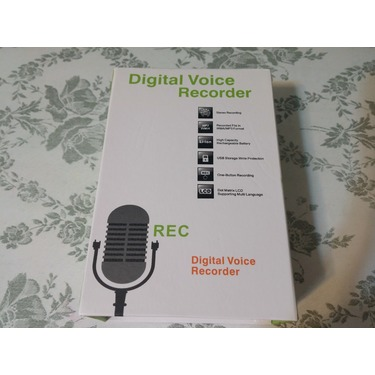 Plater Multifunctional Rechargeable 8GB 700HR Digital Audio Voice Recorder