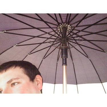 Parachase Solid Color Auto Open Stick Umbrella Large Purple