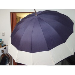 Parachase Solid Color Auto Open Stick Umbrella Large Purple