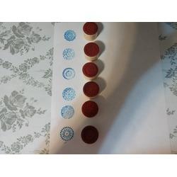 EchoAcc® Round Wood Flower Pattern Rubber Stamper