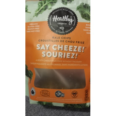 Healthy Crunch Kale Chips in Say Cheeze