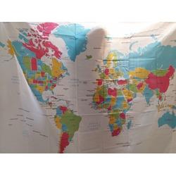 EchoAcc® World MAP Shower Curtain