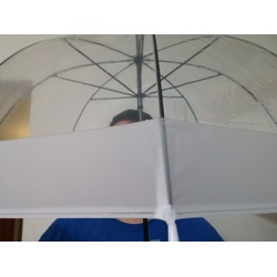 Parachase Manual Open Clear Stick Umbrella White