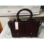Hynes Victory Summer Satchel Handbag (Black Brown)