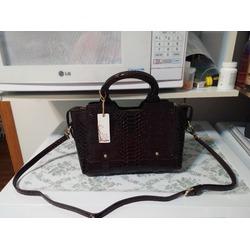Hynes Victory Summer Satchel Handbag (Black Brown)