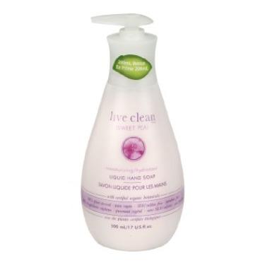 Live clean sweet pea liquid hand soap