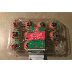 Two-bite watermelon cupcakes