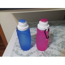 RioRand 2PCS Collapsible Silicone Sports Water Bottle