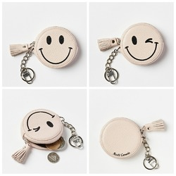 Roots Smiley/Winkey Face Coin Pouch Prince
