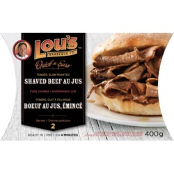 Lou's BBQ Shaved Beef Au Jus