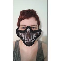 RioRand Half Face Metal Net Mesh Protective Outdoor Airsoft Mask - Skull