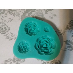 Pard 4 Size Roses Flower Silicone Cake Mold