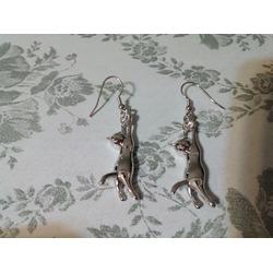 U7 Platinum Plated Cat Earrings