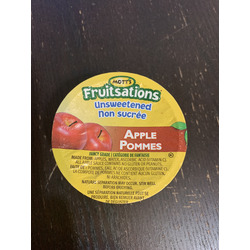 Motts fruitsations unsweetened Apple