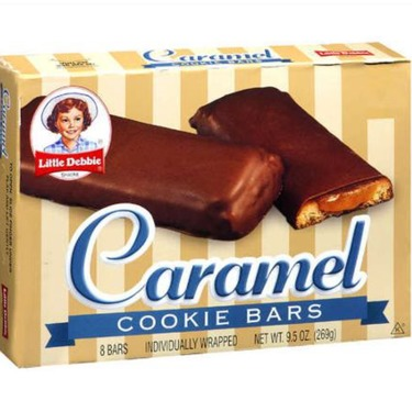 Little Debbie caramel cookie bars