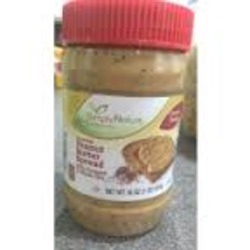 Simply Nature Crunchy Peanut butter spread with flaxseed & whole chia