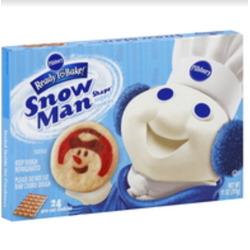 Pillsbury ready to bake snowman cookies