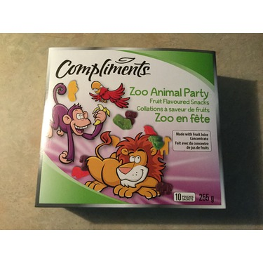 Compliments zoo animal party fruit flavoured snacks