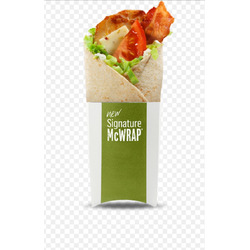 Chicken and bacon mcsignature wrap