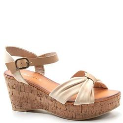 Diba True Shoes - Criss-Cross Bow 3 Inch Heel Platform Wedge Sandals