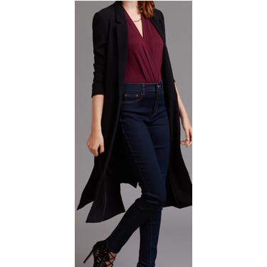 Maxi blazer with high slits